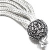 Turkish Sterling Silver CZ Cubic Zirconia Studded Tassel 45 mm ID # 6908