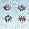 Lot of 3 Sterling Silver Spacer Beads 7 mm 1 gram ID # 2959