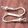 Pair of Sterling Silver Fish Hook Blank Earrings 2 cm 1 gram ID # 3118