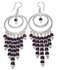 Sterling Silver Garnet Chandelier Earrings 24 gr 10 cm ID # 6536