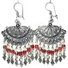 Sterling Silver Cubic Zirconia Chandelier Earrings 19 gr 7 cm ID # 6524
