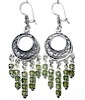 Sterling Silver Cubic Zirconia Chandelier Earrings 16 gr 75 mm ID # 6530