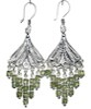 Sterling Silver Cubic Zirconia Chandelier Earrings 17.5 gram 7 cm ID # 6528