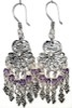 Sterling Silver Cubic Zirconia Chandelier Earrings 13 gr 65 mm ID # 6526