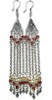 Sterling Silver Cubic Zirconia Chandelier Earrings 24 gr 12 cm ID # 6523