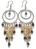 Sterling Silver Cubic Zirconia Chandelier Earrings 26 gr 10 cm ID # 6535