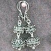 Sterling Silver Dangle Earrings 12 gram 45 mm ID # 3959