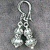 Full Sterling Silver Dangle Earrings 8 gram 4 cm ID # 4371