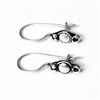 Pair of Sterling Silver Blank Hook Earrings 22 mm 1 gram ID # 6881