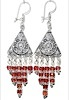 Sterling Silver Cubic Zirconia Chandelier Earrings 14.5 gr 8 cm ID # 6532