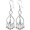 Full Sterling Silver Dangle Earrings 65 mm 8 gram ID # 5950
