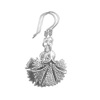 Full Sterling Silver Dangle Earrings Carnation 45 mm 5.5 gram ID # 5915