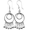 Full Sterling Silver Dangle Earrings 60 mm 9 gram ID # 5951