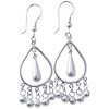 Full Sterling Silver Dangle Earrings 6 cm 7.5 gram ID # 5949