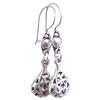 Full Sterling Silver Dangle Drop Earrings 4 cm 4 gram ID # 5918