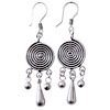 Full Sterling Silver Dangle Earrings 6 cm 8 gram ID # 5953