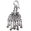 Full Sterling Silver Dangle Earrings 65 mm 10 gram ID # 5934
