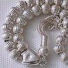 Full Sterling Silver Islamic Prayer Beads Tasbih 25 gram ID # 3740