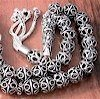Full Sterling Silver Islamic Prayer Beads Tasbih 35 gram ID # 4158