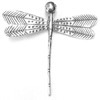 Sterling Silver Charm Pendant Giant Dragonfly 8x8 cm ID # 6864