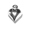 Lot of 2 Sterling Silver Charm Pendant Heart 11 mm 1.2 gram ID # 6722