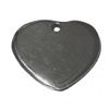 Sterling Silver Blank Label Tag for Marking Heart Charm 20 mm 3.4 gram ID # 6447
