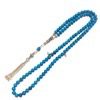 Islamic Prayer Beads 99 Howlite Tasbih sterling silver ID # 6790