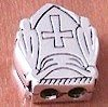 Priest Bead For Greek Komboloi Turkish Sterling Silver 6 gram 17 mm ID # 3241