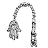 Sterling silver tasbih top with imame and hamsa 11+ gram 14 cm ID # 6717