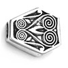 Sterling Silver Bead Imame 18 mm 5.5 gram ID # 2702