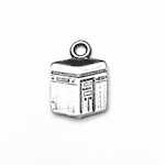 Sterling Silver Charm Pendant Holy Kaaba 13 mm 0.8 gram ID # 6936