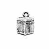 Lot of 2 Sterling Silver Charm Pendant Kaaba 12 mm 1.7 gram ID # 6788