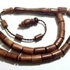 Kuka Coco De Mer Islamic Prayer Beads Tasbih Barrel shape ID # 6237