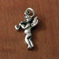 Sterling Silver Charm Angel 21 mm 1.2 gram