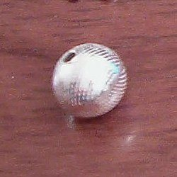 Sterling Silver Bead 1 cm Dotted 1 gram