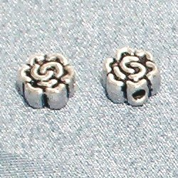 Sterling Silver Bead Flat 6 mm 1.6 gram
