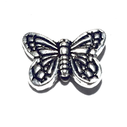Sterling Silver Butterfly Bead Charm 14 mm 1.9 gram