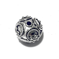 Sterling Silver Bead 13 mm 3 gram
