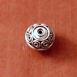 Sterling Silver Bead 13 mm 3.2 gram