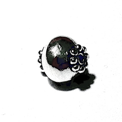 Sterling Silver Bead 9 mm 1 gram