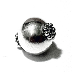 Sterling Silver Bead 13 mm 1.6 gram