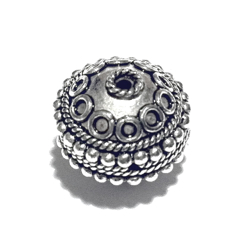 Sterling Silver Bead 14 mm 3.6 gram