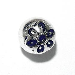 Sterling Silver Bead 13 mm 1.8 gram