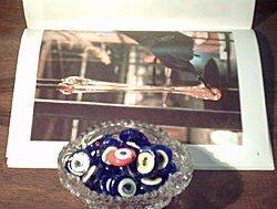 Turkish Sterling Silver Authentic Glass Evil Eye Keychain Keyring