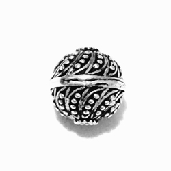 Sterling Silver Bead 10 mm 1.5 gram