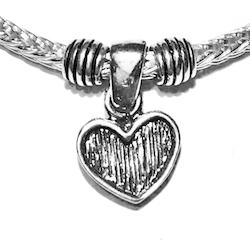 Sterling Silver Thematic Charm Bracelet Heart 8.6 gram