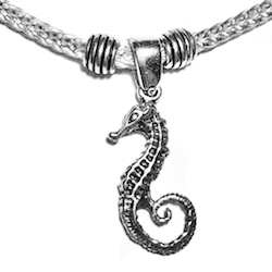 Sterling Silver Thematic Charm Bracelet Seahorse 9 gram