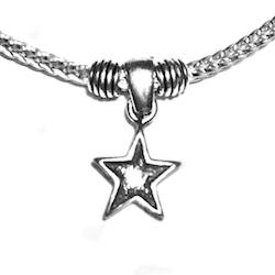 Sterling Silver Thematic Charm Bracelet Star 8.7 gram