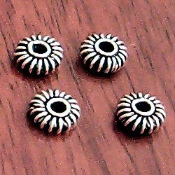 Silver Spacer Beads 7 mm 1.2 gram