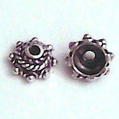 Sterling Silver Bead Caps 5 mm 1 gram